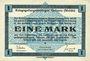 Banknotes Allemagne. Golzern. Kriegsgefangenenlager. Billet. 1 mark 1.2.1916, sans cachet