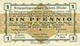 Banknotes Allemagne. Golzern. Kriegsgefangenenlager. Billet. 1 pfennig 1.2.1916, sans cachet
