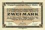 Banknotes Allemagne. Golzern. Kriegsgefangenenlager. Billet. 2 mark 1.2.1916, sans cachet