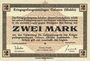 Banknotes Allemagne. Golzern. Kriegsgefangenenlager. Billet. 2 mark 1.2.1916