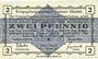 Banknotes Allemagne. Golzern. Kriegsgefangenenlager. Billet. 2 pf 1.2.1916