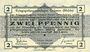 Banknotes Allemagne. Golzern. Kriegsgefangenenlager. Billet. 2 pfennig 1.2.1916, sans cachet