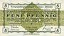 Banknotes Allemagne. Golzern. Kriegsgefangenenlager. Billet. 5 pfennig 1.2.1916