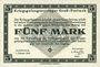 Banknotes Allemagne. Gross-Poritsch. Kriegsgefangenenlager. Billet. 5 mark 1.2.1916