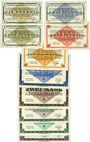 Banknotes Allemagne. Gross-Poritsch. Kriegsgefangenenlager. Billets. 1, 2, 5, 10, 50 pf, 1, 2, 5, 10, 20 mark