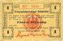 Banknotes Allemagne. Holzminden. Kriegsgefangenenlager. Billet. 1 pfennig octobre 1915