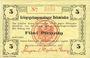 Banknotes Allemagne. Holzminden. Kriegsgefangenenlager. Billet. 5 pfennig octobre 1915