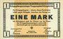Banknotes Allemagne. Königsbrück. Kriegsgefangenenlager - Truppenplatz Königsbrück. Billet. 1 mark 1.10.1915