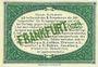 Banknotes Frankfurt Oder. Inspektion der KGL im Bereich des XIII. Armeekorps. Billet. 25 pf 1.10.1917