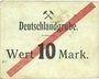 Banknotes Schwientochlowitz (Swietochlowice, Pologne). Deutschlandgrube. Billet. 10 mark n. d.