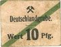 Banknotes Schwientochlowitz (Swietochlowice, Pologne). Deutschlandgrube. Billet. 10 pf n.d.