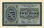 Banknotes Wiesa bei Annaberg. Offizier- Gefangenenlager. Billet. 2 mark 1.1.1916
