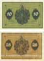 Banknotes Allemagne. Glogau (Glogow, Pologne). Stadt. Billets. 10 pf, 25 pf