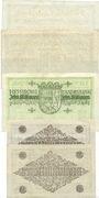 Banknotes Allemagne. Hessische Landesbank. Darmstadt 1923. Billets. 2, 5, 10, 50 millions mk 1923