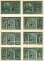 Banknotes Allstedt. Stadt. Billets. 10, 25, 50 pf (6ex) 1.10.1921