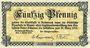 Banknotes Andernach und Mayen. Städte. Billet. 50 pfennig 1.4.1917
