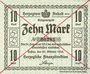 Banknotes Anhalt. Herzogliche F. D. Billet. 10 mark 29.10.1918, Annulation par traits en diagonal