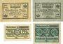 Banknotes Anhalt. Herzogliche F. D. Billets. 25, 50 pf 6.3.1917 25, 50 pf 1.4.1920