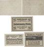 Banknotes Anhalt. Herzogliche F. D. Billets. 25, 50 pf 6.3.1917, 25 pf 20.8.1918, 25,50 pf 1.4.1920