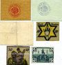 Banknotes Annaberg. Stadt. Billets. 5, 10, 50 pf n.d.  + 10, 50 pf n.d. + 50 pf n.d. (1920)