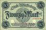 Banknotes Aschaffenburg. Stadt. Billet. 20 mark (1918-21), cachet d'annulation