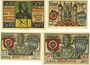Banknotes Aschaffenburg. Stadt. Billets. 50 pf 1920 Réimp, 25 pf  n. d. Réimp, 25, 50 pf n.d.