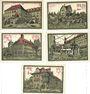 Banknotes Aschersleben. Stadt. Billets. 25 pf (2ex), 50 pf (2ex), 75 pf 1.12.1921