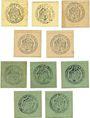 Banknotes Babenhausen. Markt. Billets. 50 pf 1918 (5ex), 50 pf 1920 (1921) (5ex)