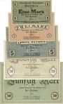 Banknotes Baden-Baden. Stadt. Billets. 1, 2, 5, 20, 50 mark du 22.10.1918