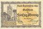 Banknotes Bartenstein (Bartoszyce, Pologne). Stadt. Billets. 50 pf n.d. - 31.12.1921