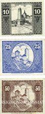 Banknotes Bautzen. Stadt. Billets. 10 pf, 25 pf 50 pf 1.5.1920