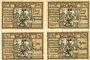 Banknotes Belgard am Persante (Bialogard, Pologne). Stadt. Billets. 25 pf, 75 pf, 1 mark, 2 mark