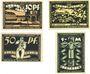 Banknotes Bentheim. Stadt. Billets. 10 pf,  25 pf, 50 pf, 1 mark (oct 1921)