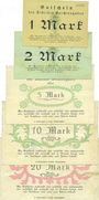 Banknotes Berchtesgaden. Distrikt. Billets. 1, 2, 5, 10, 20 mark 28.4.1919