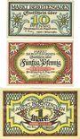 Banknotes Berchtesgaden. Marktgemeinde. Billets. 10 pf, 20 pf, 1 mark 13.8.1920