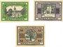 Banknotes Berga am Elster. Stadt. Billets. 10 pf, 25 pf, 50 pf 22.6.1920
