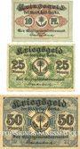 Banknotes Berka. Bad. Stadt. Billets. 10 pf, 25 pf, 50 pf 1917