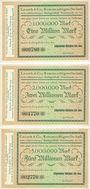 Banknotes Berlin & Ludwigshafen am See. Allgemeine Holzbau Akt.-Ges. Billets. 1, 2, 5 Mo de mark