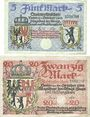 Banknotes Berlin. Stadt. Billets. 5 mark, 20 mark 24.10.1918