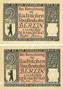 Banknotes Berlin. Strassenbahngeld. Billets. 2 mark (2ex) 1.3.1922