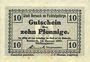 Banknotes Berneck im Fichtelgebirge. Stadt. Billet. 10 pf janvier 1917