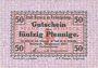 Banknotes Berneck im Fichtelgebirge. Stadt. Billet. 50 pf janvier 1917