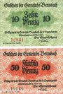 Banknotes Bernsbach. Stadt. Billets. 10 pf, 50 pf 4.5.1917