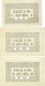 Banknotes Biebrich am Rhein. Kalle & Co A. G., Billets. 5 mk, 10 mk, 20 mk 1.11.1918