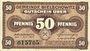 Banknotes Bielschowitz (Bielszowice, Pologne). Gemeinde. Billet. 50 pfennig 1.7.1917
