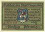 Banknotes Bingen. Stadt. Billet. 50 pfennig 24.10.1918