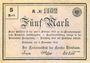 Banknotes Birnbaum (Miedzychod, Pologne). Kreis. Billet. 5 mark 5.11.1918