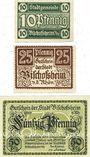 Banknotes Bischofscheim v. Rhön. Stadt. Billets. 10 pf, 25 pf, 50 pf (1921)