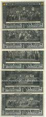 Banknotes Blankenburg Bad. Stadt. Série de 5 billets. 50 pf (5ex) 23.7.1921