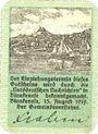 Banknotes Blankenes. Gemeindesparkasse. Billet. 50 pf 15.8.1919 (fév 1920)